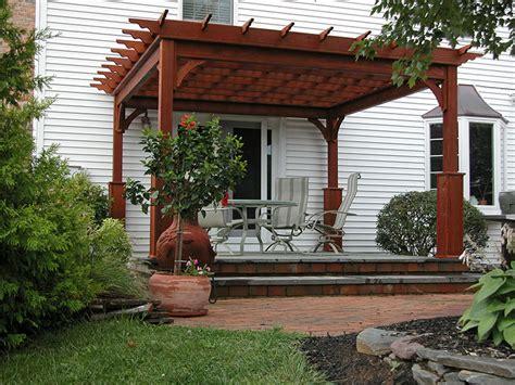 pergo a traditional wood vinyl pergolas backyard beyond