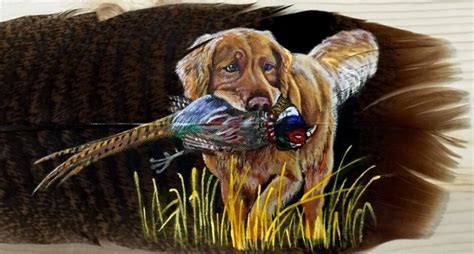 talented artist turns turkey feathers  incredible