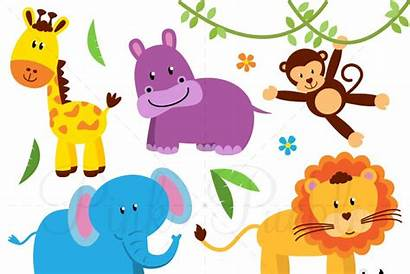 Animals Clipart Animal Safari Zoo Clip Jungle