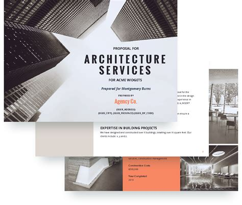 architecture proposal template  sample