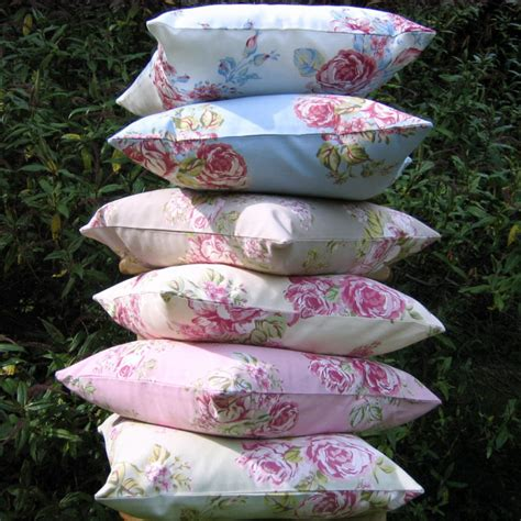 shabby chic outdoor pillows pillow cover cottage chic cushion cover 16x16 or