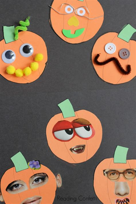 o lantern collages preschool craft reading confetti 194 | jack o lantern craft 2