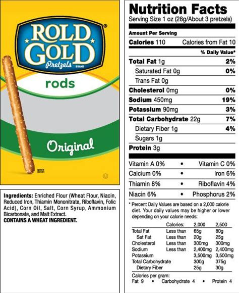 pretzel nutrition facts rold gold besto blog