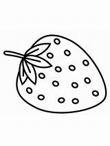 Strawberry Coloring Pages Berries Fruits Colors Recommended Getdrawings sketch template