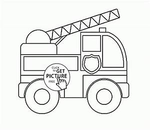 free truck coloring pages - toy fire truck coloring page for preschoolers