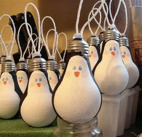 light bulb ornaments upcycle