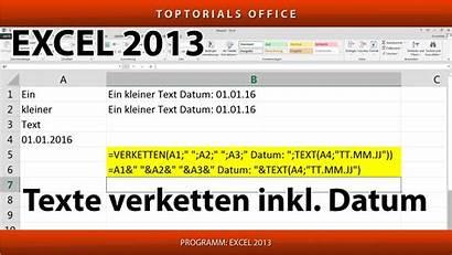 Excel Verketten Verbinden Toptorials Zellen Mehreren Datum