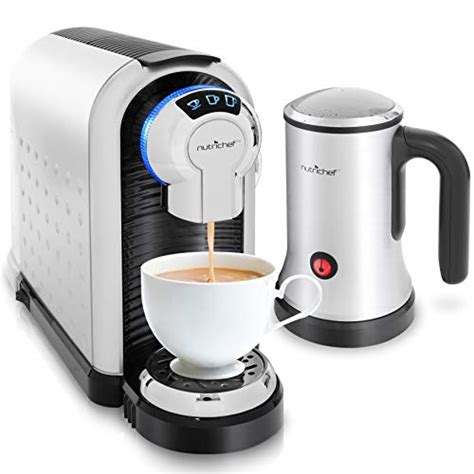 Whether you prefer coffee or espresso, it has you covered because it can brew both. Amazon Deal - NutriChef PKNESPRESO70 Espresso Machine & Cappuccino Maker with Milk Frother ...