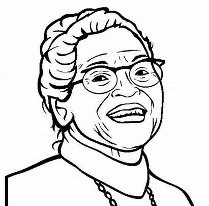 Rosa Parks Coloring History Projects Month Coloringpagebase