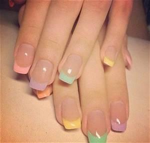 French Manucure Couleur : 14 id es de nail art pour p ques ~ Nature-et-papiers.com Idées de Décoration