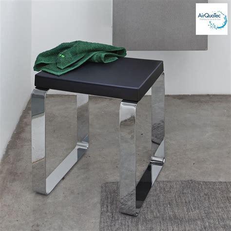 stuhl für dusche badsitz badhocker duschsitz duschhocker metall chrom schwarz neu