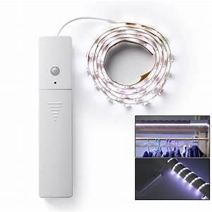 Led Streifen Bewegungsmelder : 1m led stripe mit pir bewegungsmelder lichtband streifen batteriebetrieb band ebay ~ Yasmunasinghe.com Haus und Dekorationen