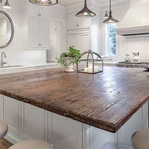 top of kitchen cabinets best 25 reclaimed wood countertop ideas on 6302