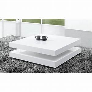 Table Laqué Blanc : table basse laque blanc ~ Teatrodelosmanantiales.com Idées de Décoration