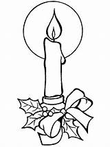 Coloring Candle sketch template