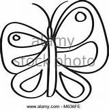 Butterfly Insect Nature Outline Coloring Vector Silhouette Cute Flying Icons Ill Alamy Vectors Similar sketch template
