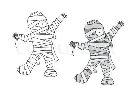 Mummy Halloween Cartoon, No Effect