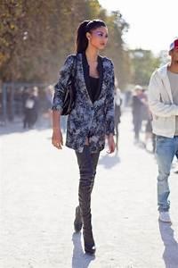 Chanel Iman street style: thigh highs - Fashionising.com