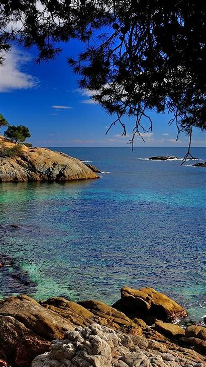 Mediterranean Sea Spain Costa Coast Brava Wallpapers