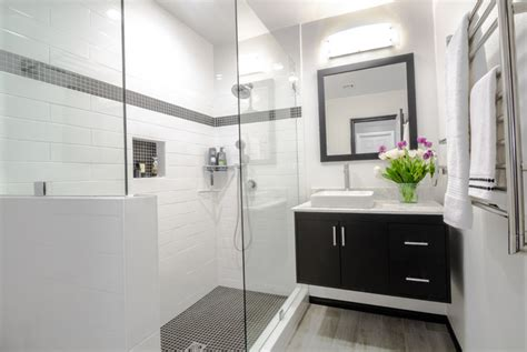 Modern Bathroom Design Black And White