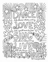 Adult Colouring Everyone Dance Printables Slim Mum Number Sing sketch template