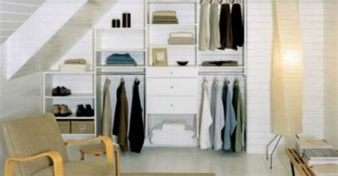 idea for pitched roof closet home wardrobe