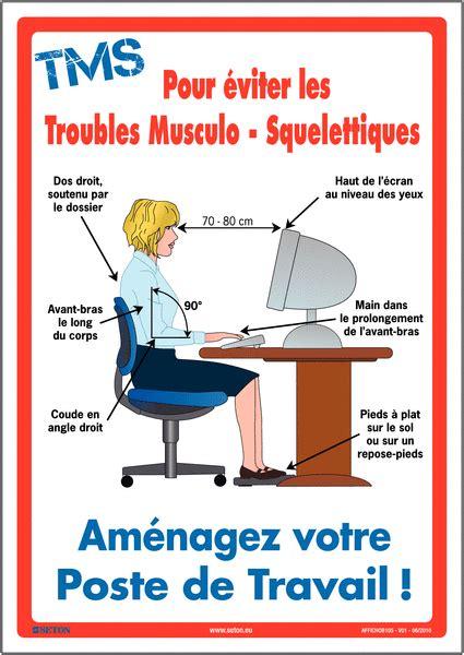 affiche bureau affiche sur les troubles musculo squelettiques seton fr