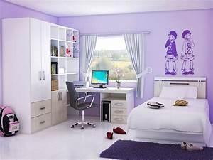 Bedrooms nice purple wall paint bedroom design for for Nice tenage girls bedroom