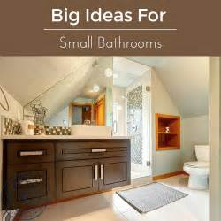 big ideas for small bathrooms - Big Ideas For Small Bathrooms