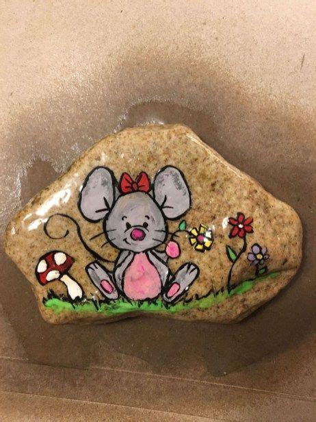 decorative rocks cute rock painting design ideas