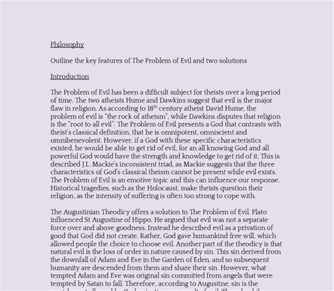 Problem Of Evil Essay by Hamartiology The Problem Of Evil Essay By Adrinaelaine
