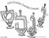 Hanukkah Coloring Pages Dreidel Chanukah Printable Dreidels Hop Four Symbols Drawing Fun Getcolorings Crafts Jewish Lamp Oil Sheets Colouring Artful sketch template