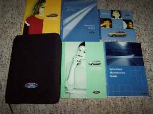 ford windstar minivan owner owners manual user guide