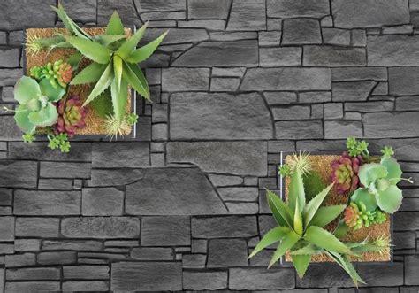 Vertikaler Garten Für Die Wand Mit Deko-pflanzen Auf Sand
