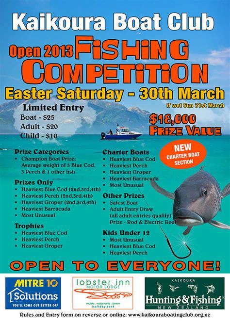Marietta Boat Club Fishing Tournament by Easter Fishing Tournament 2013 Kaikoura Boating Club