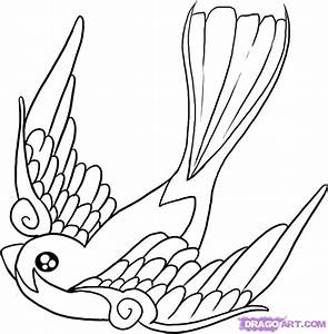 Birds Tattoos For You: Swallow Bird Tattoo Design