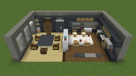 modern kitchen design minecraft