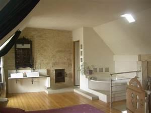 creation d39une salle de bain ouverte sur la chambre With chambre salle de bain