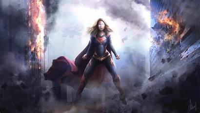 Supergirl Wallpapers Superhero Dc Smoke Comics 4k