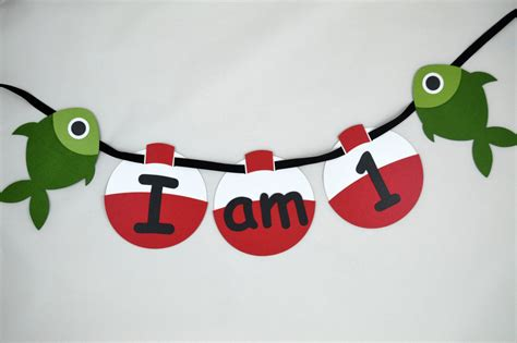 fishing i am 1 high chair banner gone fishing theme first