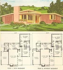Mid Century Modern House Plan No 5305 - 1954 National