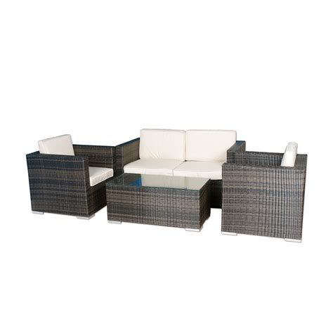 Kontiki Cube Patio Furniture by Kontiki 10080186 Outdoor 4 Conversation Set Lowe S
