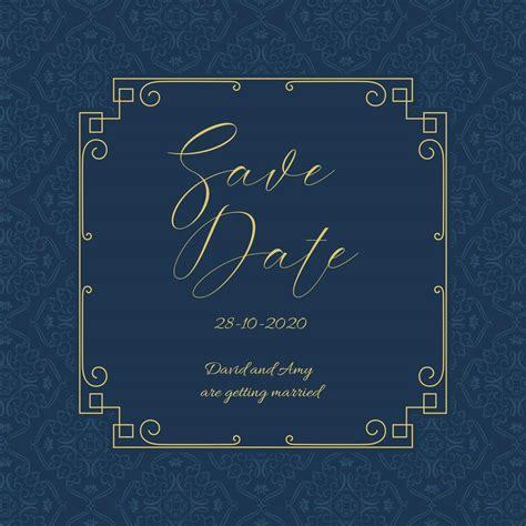 Elegant Save the date invitation design Download Free