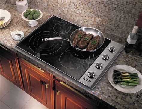 Viking Vec5304bsb 30 Inch Smoothtop Electric Cooktop With 4 Quickcook Surface Infrared Elements