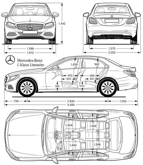 dimension mercedes classe c dimensions de garage classe c