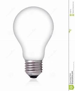 Empty Light Bulb On White Background Royalty Free Stock ...