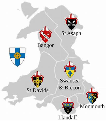 Wales Diocese Map Bangor Church Svg Wikipedia