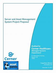 Server and asset management system project proposal for Asset management system project documentation