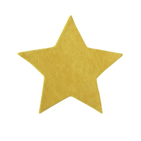 tapis bebe chambre tapis en coton jaune h 100 cm étoile maisons du monde
