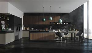 stunning cuisines design contemporary design trends 2017 With deco cuisine avec chaise design noir